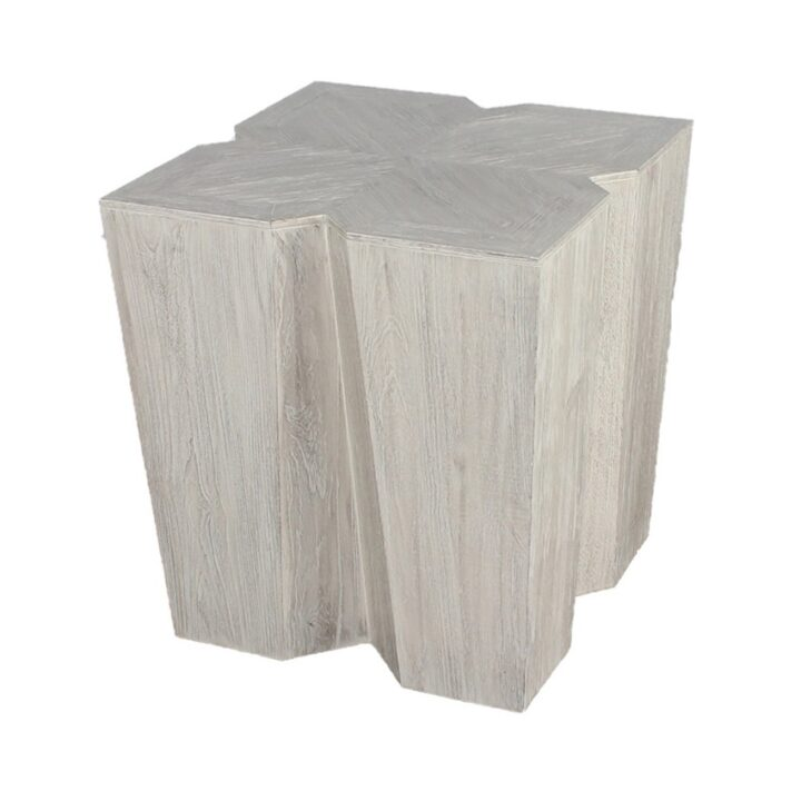 Flora End Table (NB-FET-242426) - Driftwood (Reclaimed) - mandalay furniture