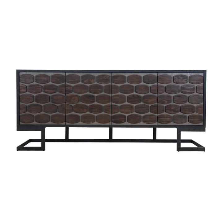 MillBrae Sideboard (HL-MIS-791834_ - Black / Grey Oak
